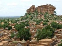 Pueblo del africano de Adobe Imagen de archivo