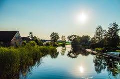 Pueblo del agua Foto de archivo libre de regalías