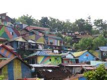 Pueblo del arco iris en Semarang Foto de archivo