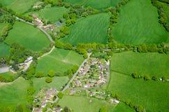 Pueblo del capelo, Surrey, visión aérea Fotografía de archivo