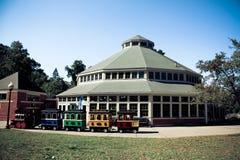 Pueblo del carrusel en Roger Williams Park histórico, providencia, RI Foto de archivo