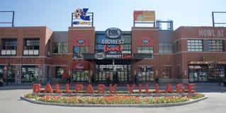 Pueblo del estadio de béisbol, St. Louis céntrico, Missouri foto de archivo