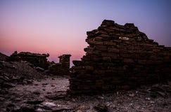Pueblo del fantasma, Khuldara Imagenes de archivo