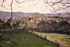 Pueblo del italiano del campo Imagen de archivo