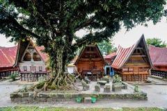 Pueblo del museo de Bolon Simanindo Batak Imagen de archivo libre de regalías
