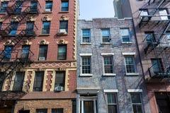 Pueblo del oeste en los edificios de Nueva York Manhattan Fotografía de archivo