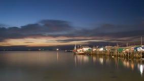 Pueblo del paisaje marino horizontal Fotos de archivo libres de regalías