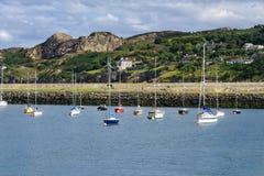 Pueblo del puerto de Howth, Irlanda fotografía de archivo libre de regalías