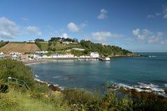 Pueblo del puerto de Rozel en jersey, Fotos de archivo libres de regalías