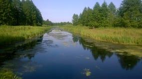 Pueblo del río Fotos de archivo