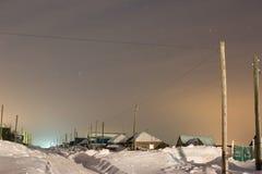 Pueblo del ruso de la noche Fotografía de archivo
