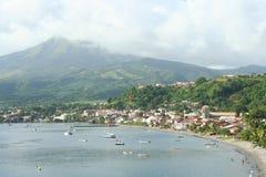 Pueblo del Saint Pierre en Martinica Foto de archivo libre de regalías