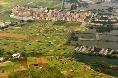 Pueblo del suburbio de la ciudad de Guangzhou Fotos de archivo libres de regalías
