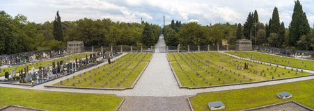 Pueblo del trabajador del d'Adda de Crespi: el cementerio Imagen del color Foto de archivo libre de regalías
