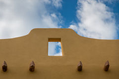 Pueblo design. Pueblo style architecture against a blue sky in Mexico Stock Photos