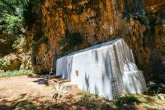 Pueblo desplazado Samaria en Creta central, Grecia fotografía de archivo libre de regalías