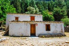 Pueblo desplazado Samaria en Samaria Gorge, Grecia fotografía de archivo