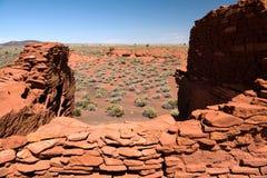 Pueblo di Wukoki in monumento nazionale di Wupatki Fotografia Stock Libera da Diritti