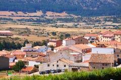 Pueblo en Aragón. Frias de Albarracin Foto de archivo