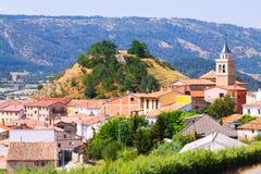 Pueblo en Aragón Frias de Albarracin Foto de archivo libre de regalías