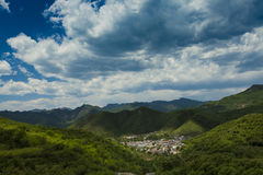 Pueblo en China de Pekín de la montaña Fotografía de archivo libre de regalías