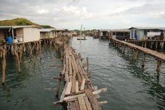 Pueblo en el agua Imagenes de archivo