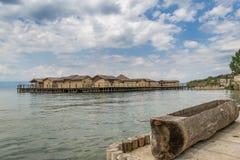 Pueblo en el agua Imagen de archivo libre de regalías