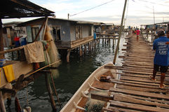 Pueblo en el agua Foto de archivo