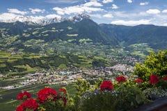 Pueblo en el Tirol del sur Fotografía de archivo