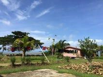 Pueblo en Fiji fotos de archivo
