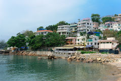 Pueblo en la isla de Lamma Hong Kong Imagen de archivo libre de regalías