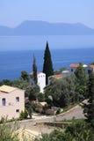 Pueblo en la isla de Lefkada Fotos de archivo libres de regalías