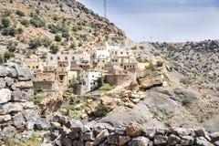 Pueblo en la meseta de Saiq Imagen de archivo libre de regalías