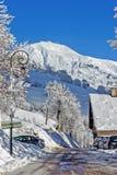 Pueblo en las montañas Foto de archivo libre de regalías