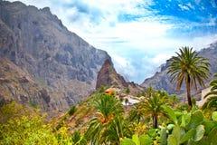Pueblo en las montañas de Teno, Tenerife, España de Masca imagen de archivo libre de regalías