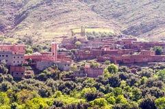 Pueblo en Marruecos meridional Imágenes de archivo libres de regalías