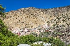 Pueblo en Marruecos meridional Foto de archivo libre de regalías