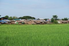 Pueblo en Myanmar Fotografía de archivo