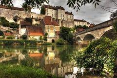 Pueblo en Pesmes, Borgoña - Francia Fotografía de archivo libre de regalías