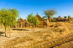 Pueblo en Sudán Fotos de archivo libres de regalías