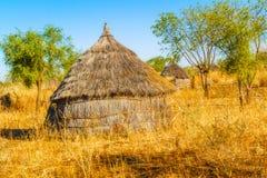 Pueblo en Sudán Foto de archivo