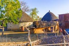 Pueblo en Sudán Foto de archivo libre de regalías