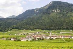 Pueblo en Valais (Suiza) Foto de archivo