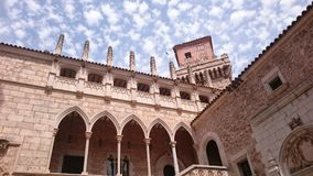 Pueblo Espanol. Is a 6,000 sq feet castle in a city of Palma de Majorca in Spain Stock Photography