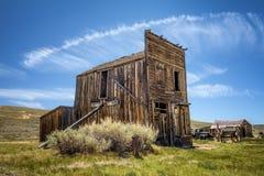 Pueblo fantasma de Bodie en California Fotografía de archivo libre de regalías