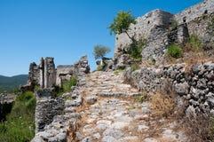 Pueblo fantasma de Kayakoy (Turquía) Foto de archivo