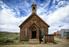 Pueblo fantasma de la explotación minera de Bodie California Imagenes de archivo
