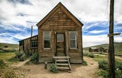 Pueblo fantasma de la explotación minera de Bodie California Fotos de archivo libres de regalías