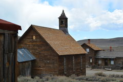 Pueblo fantasma de la fiebre del oro - Bodie California Foto de archivo
