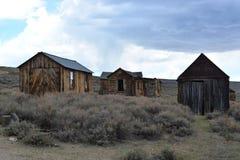 Pueblo fantasma de la fiebre del oro - Bodie California Imagen de archivo